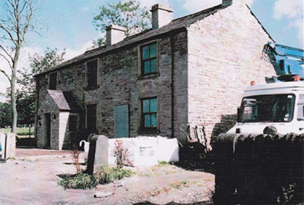 Birdhall Cottages at the time of the visit by the Robert Kay Association in 1999