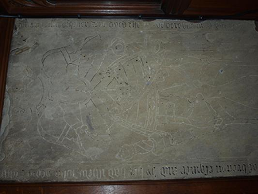 The tomb of Arthur Kay of Woodsome who died in 1582