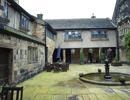 The courtyard at Woodsome as it is now