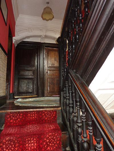 The staircase in Chesham from the ground to the first floors