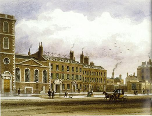 St Thomas' hospital in the mid 19th century