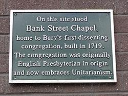 Plaque on Bank Street chapel