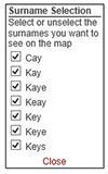 Selecting surnames