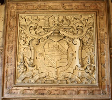 Kay-Shuttleworth arms in the entrance hall