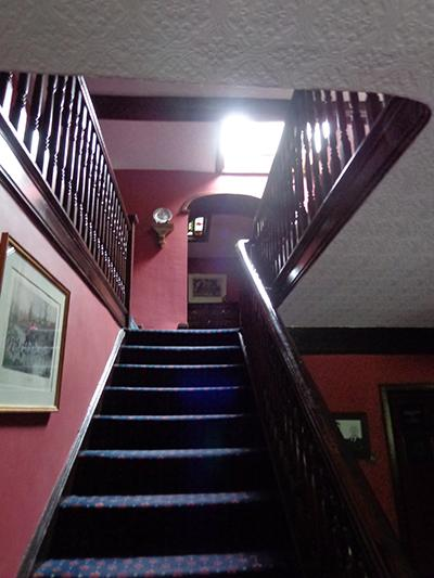 The staircase in Baldingstone House