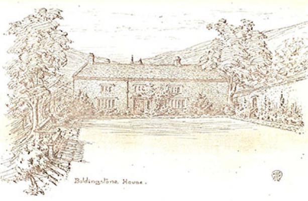 An artist's impression from about 1900 of what the house might have looked like