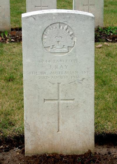 The grave of James Kay
