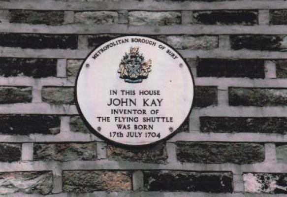 The plaque to John Kay at Park