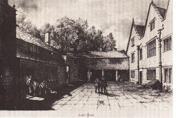 The courtyard at Woodsome as it might have looked