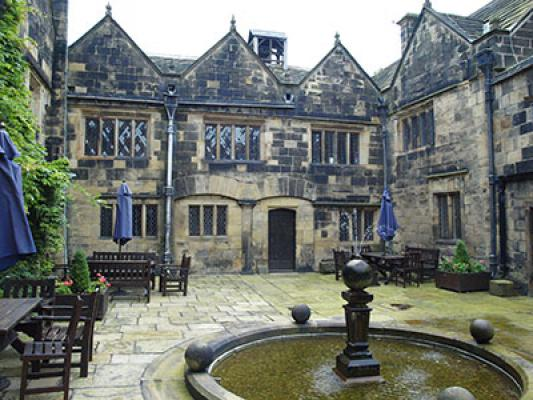 Another view of the courtyard as it is now